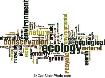 Ecology word cloud concept. Vector illustration