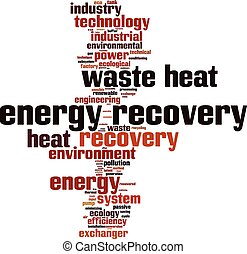 Energy recovery word cloud concept Vector illustration
