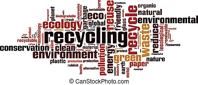Recycling word cloud concept Vector illustration