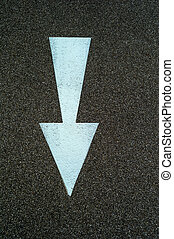 arrow to guide - arrow direction as a marker on a bike path...