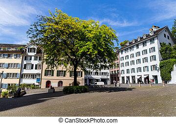 switzerland, zurich, munster square - switzerland, zurich....