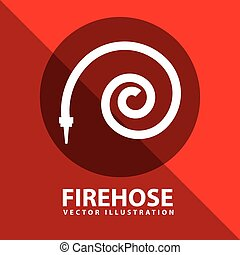 firehose signal design, vector illustration eps10 graphic