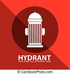 hydrant signal design, vector illustration eps10 graphic