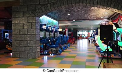 Inside the amusement park