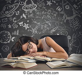 Teacher of astronomy - A teacher of astronomy sleeping over...
