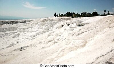 Water On Calcium Wall In Pamukkale - Water on calcium wall...