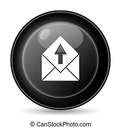 Send e-mail icon Internet button on white background