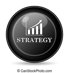 Strategy icon Internet button on white background