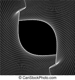 Abstract Curved Lines Background
