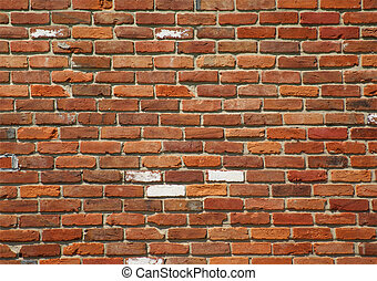 Weathered Brick Background - Weathered bright wall showing...