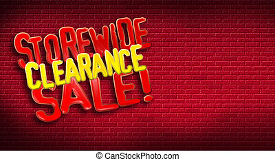 Storewide Clearance Sale Brick - Storewide Clearance Sale...