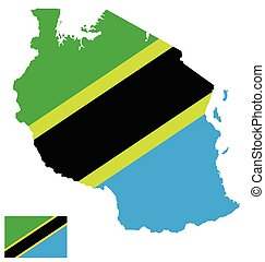 Tanzania Flag - Flag of the United Republic of Tanzania...