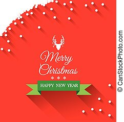 Abstract Christmas Greeting card