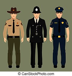 policeman and sheriff - british policeman and sheriff...
