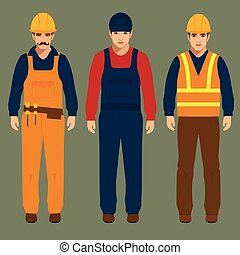 construction worker - builder, engineer man, vector...