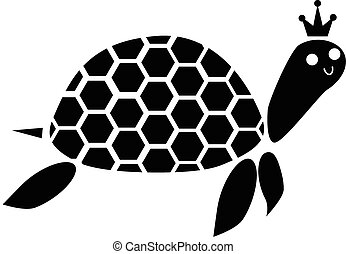 turtle black and white - black and white color on the king...