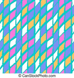 Vector seamless bold harlequin pattern colorful hand painted...