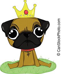 Pug - I love Pug so Pug is king of dog in my eye