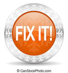 fix it orange icon, christmas button