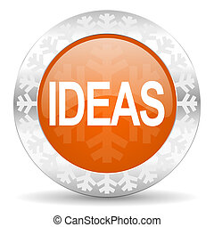 ideas orange icon, christmas button