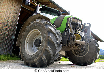 BigTractor - Big and modern Agricultural Tractor from below