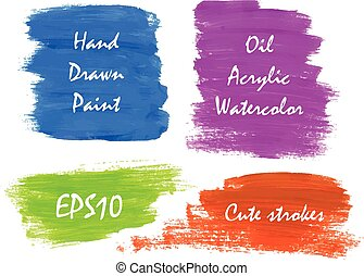 Watercolor bright colors banners for web commercial Vector...