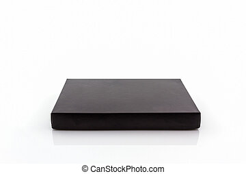 Black paper box . - Black paper box on white background with...