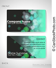 A gradient colored business card template