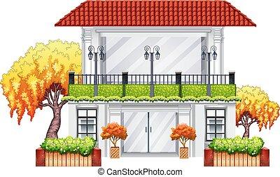 An elegant building