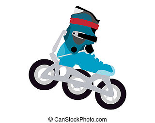 rollerblade - a computer generated illustration about...