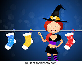 stockings epiphany - illustration of stockings epiphany