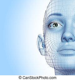 3D, mulher