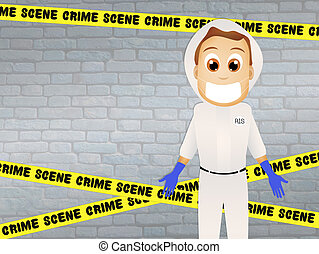 forensic - illustration of forensic