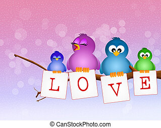love family - illustration of love family
