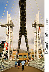 Salford Quays Bridge - The footbridge at Salford Quays.