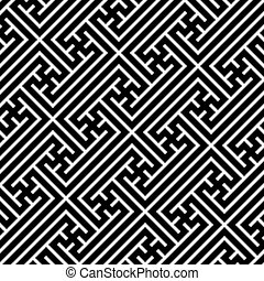 Seamless geometric swastika pattern Vector