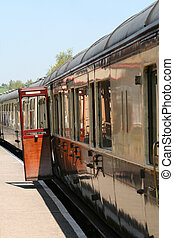 Steam Train carriages with open door