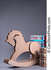 Wooden horse for Christmas - Little wooden toy horse...