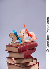 Wooden horse for Christmas - Two little toy horses standing...