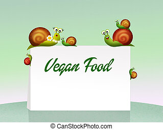 vegan food - illustration of vegan food