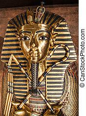 Tutankhamun's sarcophagus - Detail of Tutankhamun's...