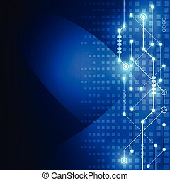 Abstract technology concept blue background. Vector...