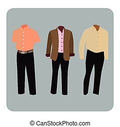 Male business suit - Vector illustration of male business...