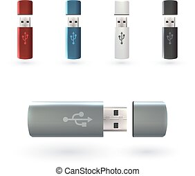 Usb Flash Drive - USB flash drive portable data devices set...