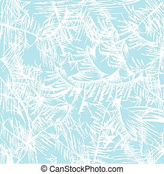 frost pattern - White frost pattern on a blue background