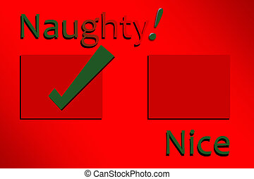 Naughty and Nice Check List - Vibrant Red Check List to Help...