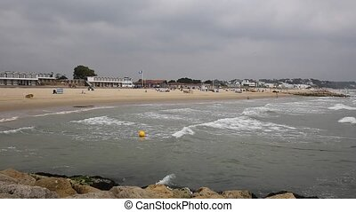 Sandbanks Poole Dorset England UK - Sandbanks beach and...