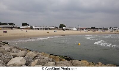 Sandbanks beach and waves Dorset - Sandbanks beach and waves...