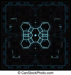 Futuristic Graphic User Interface. Vector Illustration.