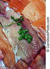 Fish fillets for sale 7 - Fish fresh fillet exposed for sale...